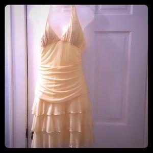Short formal yellow dress